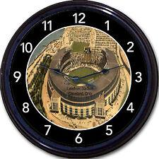 Cleveland Indians Lakefront Stadium Wall Clock Baseball MLB Boudreau Postcard