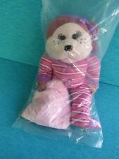 CUDDLY KIDS - PIPPA THE PJ BEAR - BIGB180 SOFT PLUSH RETIRED SKANSEN BEANIE SEAL