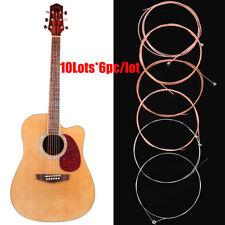 60Pcs Pure Light Gauge 150XL Nickel Acoustic Guitar Strings Silver Bronze Color