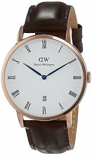 Daniel Wellington Classic Dapper York 1102DW Marrone Pelle Rose Gold Uomo Watch