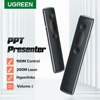 Ugreen Remote Controller Presenter Wireless 2.4GHz USB Control Pen Laser Pointer