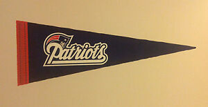 """New England Patriots FATHEAD Official Team Pennant 28"""" x 10"""" NFL Wall Graphics"""