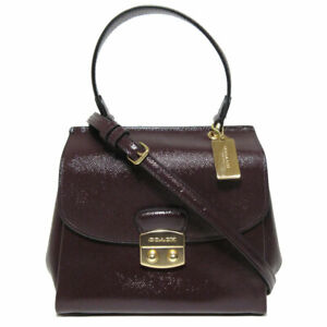 Coach Patent Crossgrain Leather Avary Crossbody Bag Brown F37833 NWT $350 FS