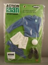 ACTION MAN  40th - BLUE JERSEY FOOTBALLER CARD - SPORTSMAN - Carded