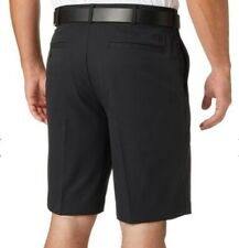 Walter Hagen 11 Majors Mens Shorts Size 34 Pleated Front Black Comfort Stretch