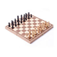 Chess Board Vintage Set Hand Wooden Box Game Folding Wood Carved Pieces Xmas New