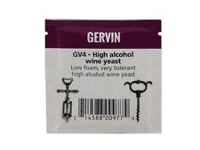 Gervin GV4 High Alcohol Wine Yeast Sachet 5g NEW Homebrew Home Brew