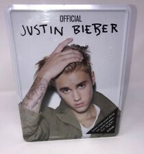 Official Justin Bieber Tin of 3 Books Filled With Facts , Puzzles & More , New