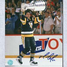 Mario Lemieux Pittsburgh Penguins Autographed 1992 Stanley Cup 8x10 Photo