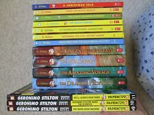 GERONIMO STILTON HC LOT 14~Graphic Novels~Kingdom Fantasy~XMAS~DIAMOND~WHALE~GLD