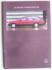 Prospetto MERCEDES S 124 T: 200 - 300, 10.1989, 46 pagine