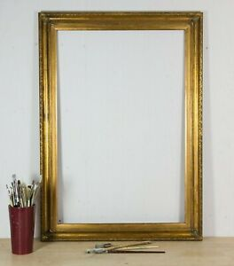 """Vintage Large Gilded Wooden Picture / Mirror Frame, 42"""" x 30"""" circa 1990s"""