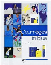 PUBLICITE ADVERTISING 104 1987 Courrèges in blue le rythme d'un parfum