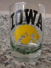 Iowa Hawkeyes 1983 Gator Bowl Game Football Glass New