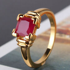 Enchanting style 24k gold filled best lady ruby gift Stylish  RING  Sz5/J-Sz9/R
