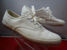 KEDS Classic White Tennis Shoes Canvas Sneakers womens 9.5 Terry cloth interior