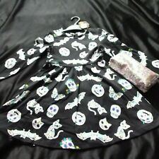 Girls Halloween dress with bats ghosts stars pumpkins cat 8 Years FreeBie