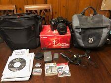 Canon Rebel EOS Digital Rebel XTI Black EF-S 18-55 Kit plus Bags and Filters
