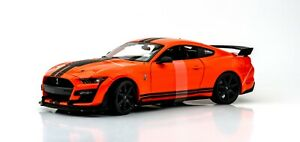 2020 Ford Mustang Shelby GT500 Orange 1:18 Model Car Maisto Special Edition, New