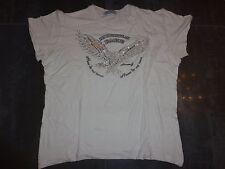 T-shirt fashion blanc homme MASSIS-G aigle en strass taille M