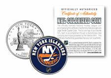 NEW YORK ISLANDERS NHL HOCKEY NEW YORK STATE QUARTER COIN! COA & STAND