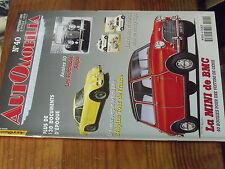 8µ? Revue Automobilia n°40 Alpine Tour de France Mini de BMC Hotchkiss FAURE