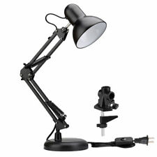 LE Flexible Swing Arm Lamp Clamp-on Office Studio Home Table Desk Light Drafting