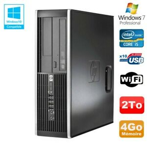 PC HP Elite 8300 SFF Core I5 3470 3.2GHz 4Go Disque 2To Graveur USB3 Wifi W7