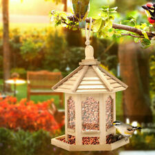 Outdoor Hanging-Wooden Squirrel Proof Seed Feeder For Wild Bird Seeds Feeding