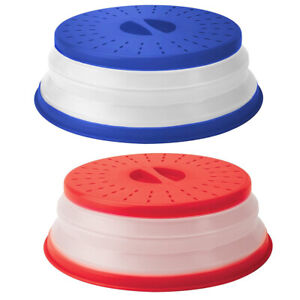 Vented Collapsible Microwave Plate Cover Lid Food Dish Splatter Shield Guard