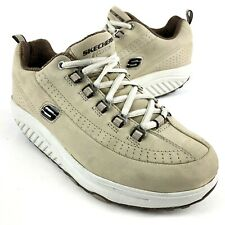 Skechers Shape Ups Toning Walking Shoes 11801 Suede Tan Beige Womens Size 7.5