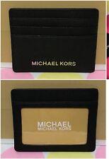 NEW Michael Kors  Jet Set Travel Saffiano Leather Card Case  Holder in Black