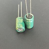 10pcs 22uF 100V SANYO AX 8X12mm 100V22uF Low Impedance Long Life Capacitor