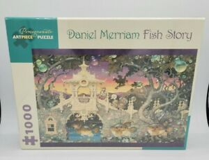 "Pomegranate Artpiece Puzzle Daniel Merriam Fish Story - 1000 Piece 29"" x 20"" New"