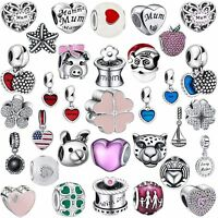 2018 New Fine Silver Charms Fashion Bead Fit Women 925 Sterling Bracelets Chain