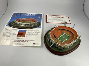 CANDLESTICK PARK SAN FRANCISCO 49ERS DANBURY MINT STADIUM REPLICA IN BOX W/cert