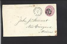 WASHINGTON, DISTRICT OF COLUMBIA 3CT PINK ENTIRE, FANCY CANCEL.