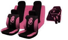 15Pcs Dragon cubiertas de asiento de coche piso Mat Set RRP £ 29 Rosa