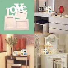 Photo Frame Set DIY Love Home Decor Wooden Picture Durable Hollow Sweet New qw