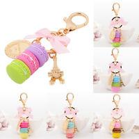 BH_ KE_ FT- Women Cute Macaron Cake Pendant Key Chain Purse Bag Hanging Ornament