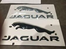Oem Jaguar F Type Xj Xjr Xf Black Chrome Trunk Emblem Badge Nameplate T2r27585