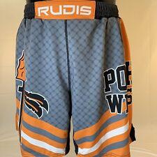 Rudis Wrestling MMA Cage Fight Boxing Shorts drawstring Powhatan VA XL USA Orang