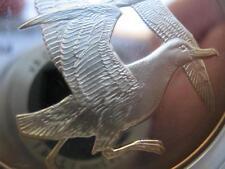 Albatrosse Franklin Mint Proof Gilroy Roberts Birds Sterling Silver 2.08 Troy.Oz