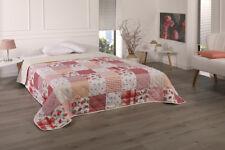 XXLTagesdecke Bettüberwurf Decke 220x240 Patchwork Plaid Quilt Landhaus Shabby