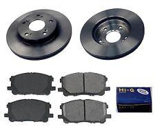 Front Ceramic Brake Pad Set & Rotor Kit for 2009 Honda Civic DX-EX-LX-LX S