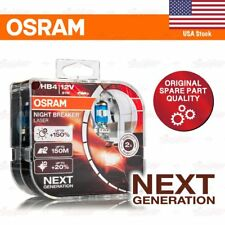 OSRAM NIGHT BREAKER LASER Headlight NEXT GEN Bulbs Duo HB4 +150% 51W 9006NL-HCB