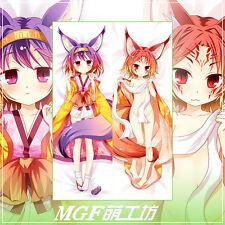 Anime NO GAME NO LIFE Hatsuse Izuna Dakimakura body pillow cover case US Seller