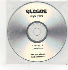 (FQ940) Alamos, Kill Baby Kill / Small Ships - DJ CD
