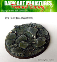 Rocky themed resin cast bases for wargaming. MULTI-LISTING