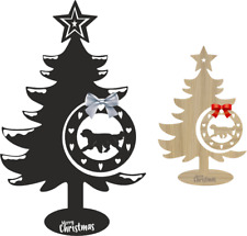 More details for pyrenean sheepdog christmas tree and bauble xmas dog table decoration